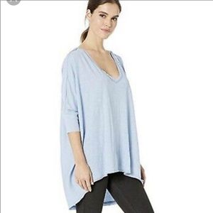 NWT Free People Catch Waves Dreamy Clouds Tee